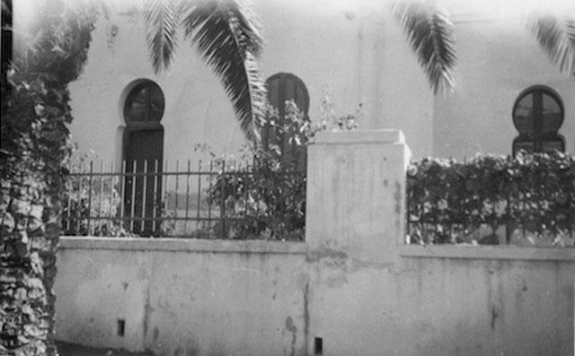 Vue partielle de la façade, années 1950 (collection jean-pierre